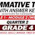 GRADE 4 SUMMATIVE TEST with Answer Key (Modules 1-2) 2ND QUARTER