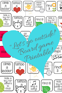 Practical Mom: 'Let's go Outside!' Board Game Printable!