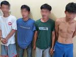 Empat Orang Spesialis Jambret Tas di Jalinsum Penengahan-Bakauheni Ditangkap Polisi