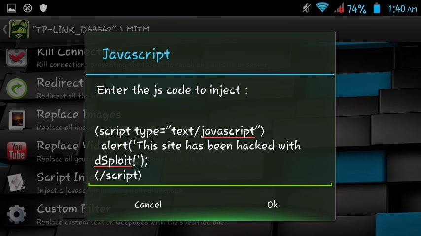 dSploit - Android App For Hackers - Effect Hacking