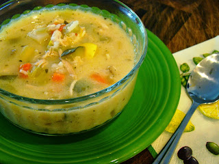 Lemon Chicken and Vegetable Soup from Soup Spice Everything Nice