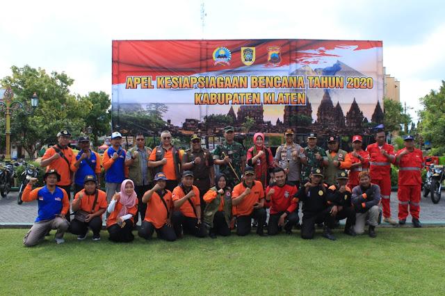 Foto Bersama Perwakilan Relawan bersama Forkopimda Klaten