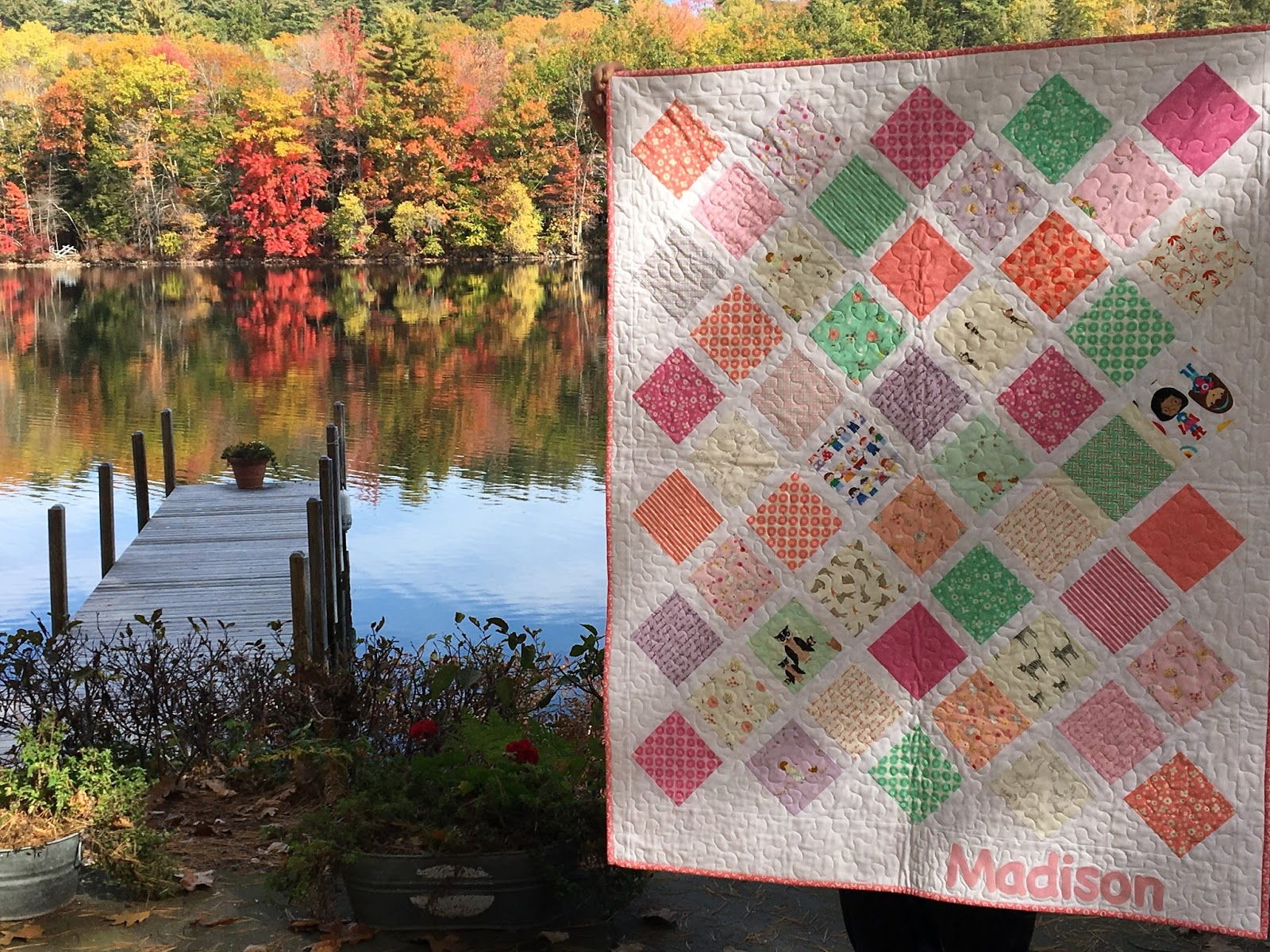 Kayakquilting a free tutorial on her web site diary of a quilter its a great use of charm squares and the on point placement of the blocks makes for a fast and baditri Choice Image