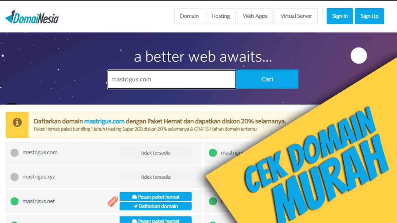 Layanan Murah DomaiNesia untuk Membuat Website Toko Online