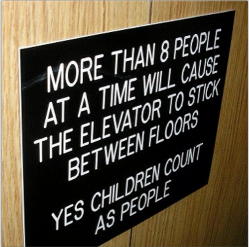 yes children count as people funny fail sign