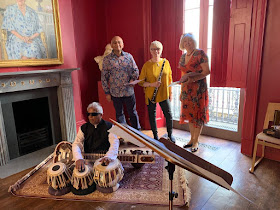 Baluji Shrivastav, Basker Patel, Geraldine Allen and Sarah Rodgers at the launch event for The Roaring Whirl, 18/9/2019 (Photo Impulse Music Consultants)