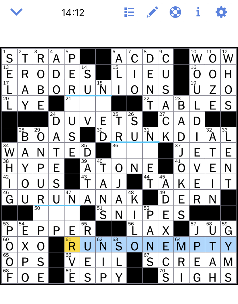 Nytimes Crossword : nytimes, crossword, Times, Crossword, Puzzle, Solved:, Thursday's, October