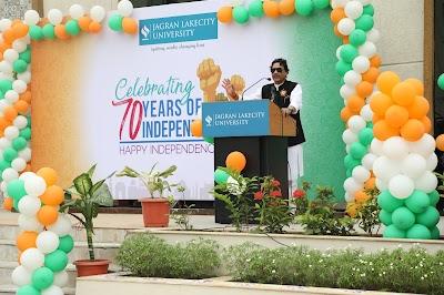 Celebrating 70 Years of Independence at Jagran Lakecity University