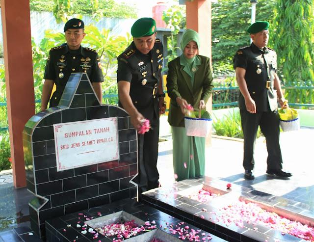 Dandim Klaten Ikuti Ziarah Rombongan Dalam Rangka Hari Juang TNI AD 2019