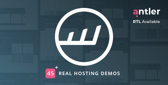 Antler php script–Hosting Provider & WHMCS Template