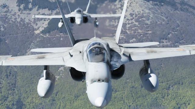 Dos cazas españoles F-18 interceptan un Su-24 ruso en el Báltico