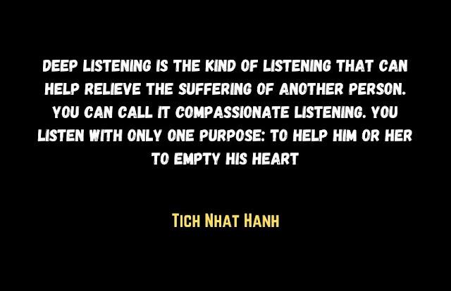 Deep listening quote