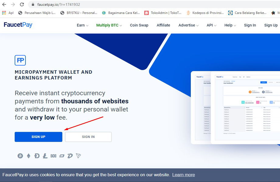 daftar akun gratis bitcoin
