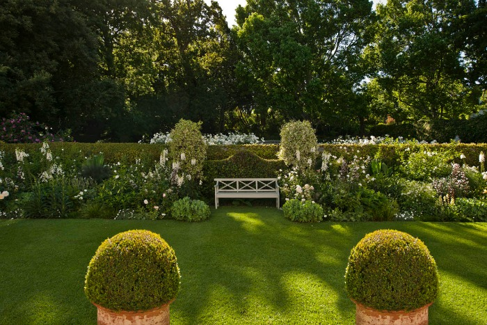 Stellenberg Gardens, bordura blanca