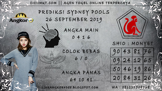 PREDIKSI SYDNEY POOLS 26 SEPTEMBER 2019