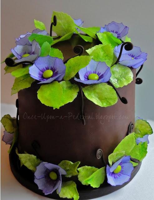 wafer-paper-flowers-cake-chocolate-fiddlehead-ferns-deborah-stauch