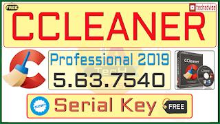 CCleaner Professional 5.63.7540 Serial Key Crack Pro All Version [Update: Nov 2019]