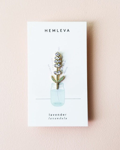 Lavendar pin by Hemleva