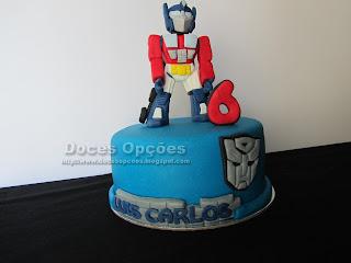 bolo festas aniversário Transfomers bragança doces opções