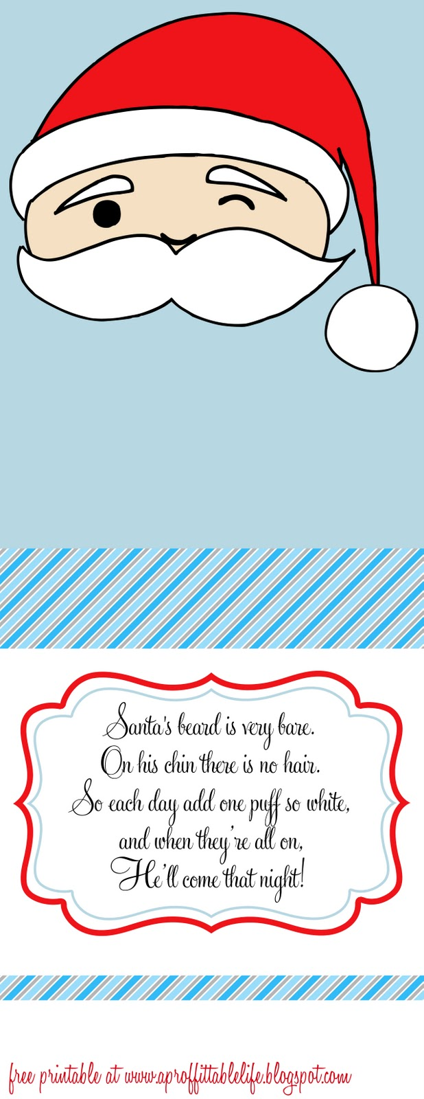 A Proffittable Life Santa Free Printable Advent Countdown