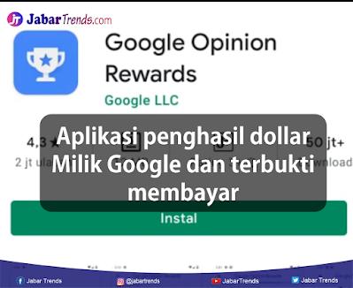 Aplikasi Penghasil Dollar Milik Google Terbukti Membayar