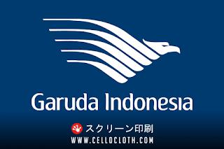Kemeja Garuda Indonesia Bahan Hisofy Drill Bordir Komputer