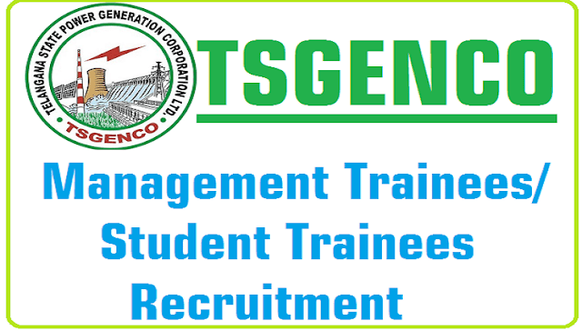 TSGENCO,Management Trainees,Student Trainees,Recruitment
