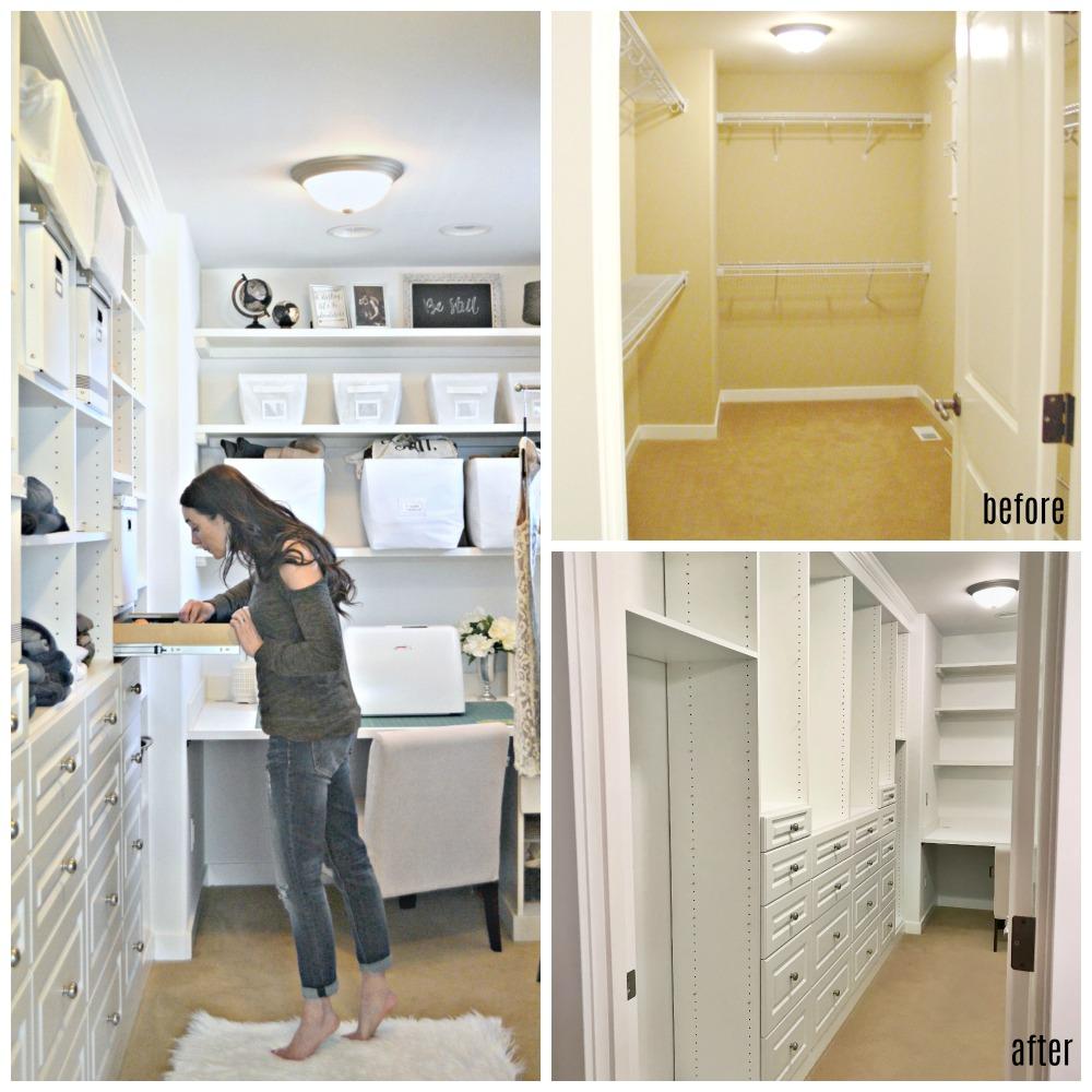 Master Bedroom Closet DIY BuiltIn Transformation  Rachel