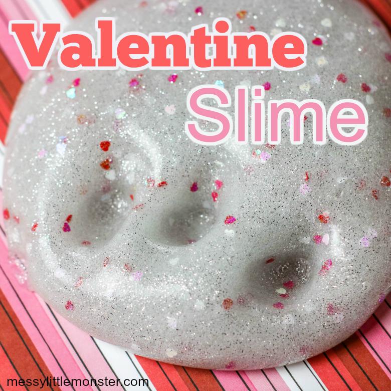 Valentine slime recipe