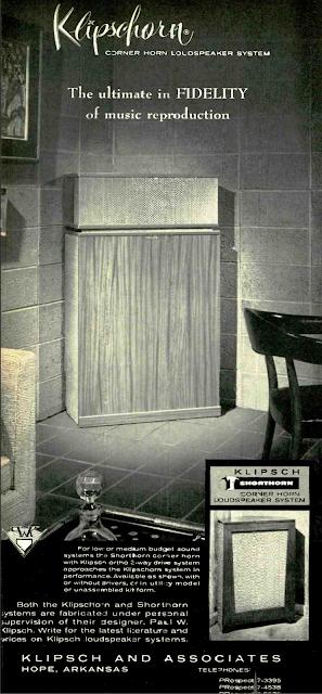 retro vintage modern hi-fi: Klipschorn