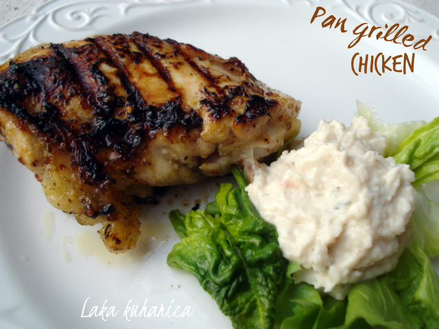 Pan grilled chicken by Laka kuharica: tasty, succulent and easy to make grilled chicken.