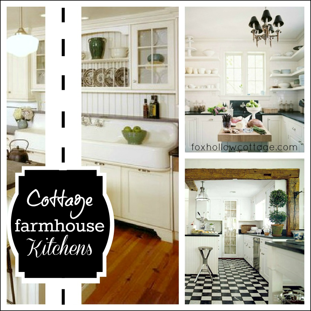 Farmhouse Kitchen Cabinets: Cottage Farmhouse Kitchens {inspiring In White}