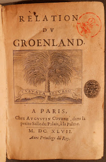 Title page of Relation Du Groenland