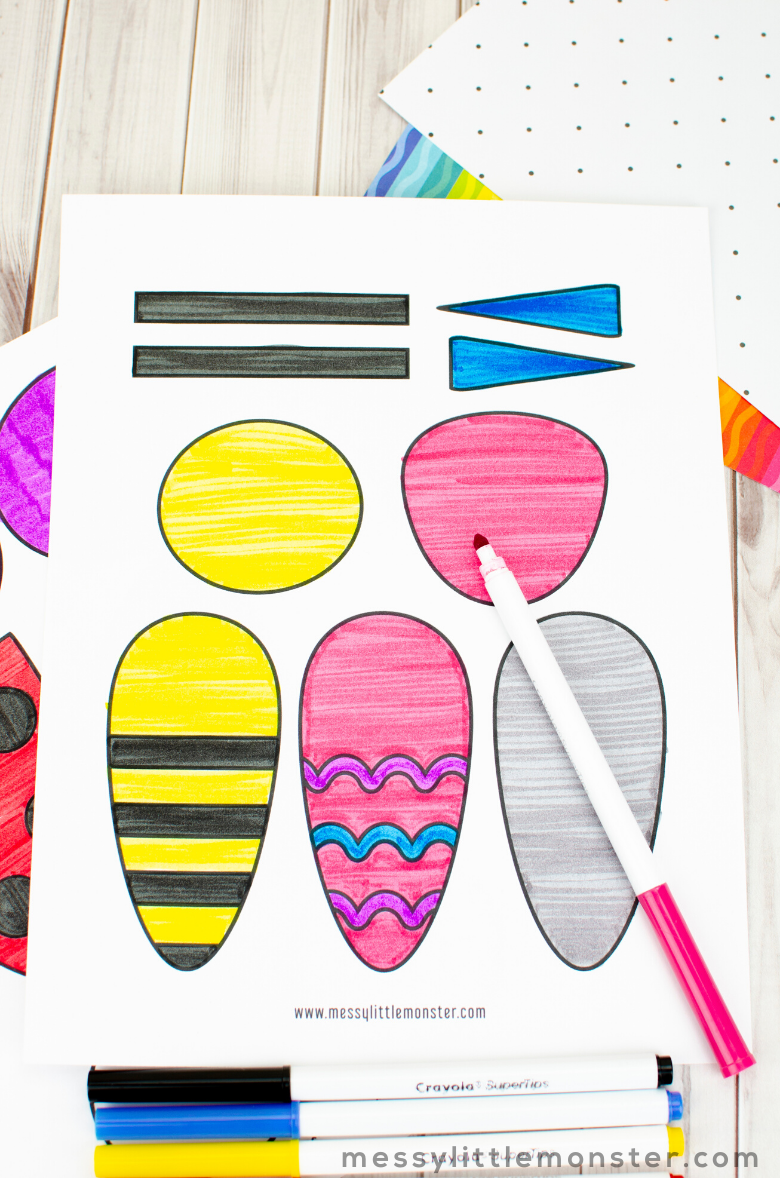 printable bug crafts