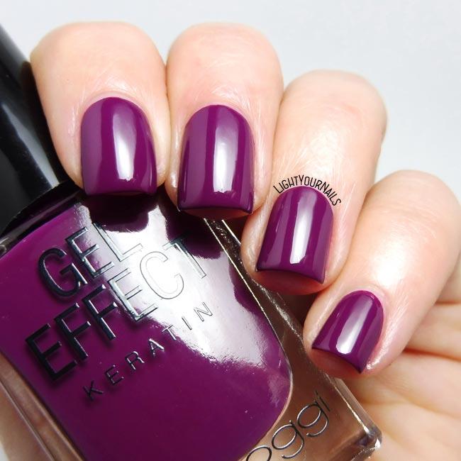 Smalto viola Bella Oggi Bitter Sangria purple nail polish