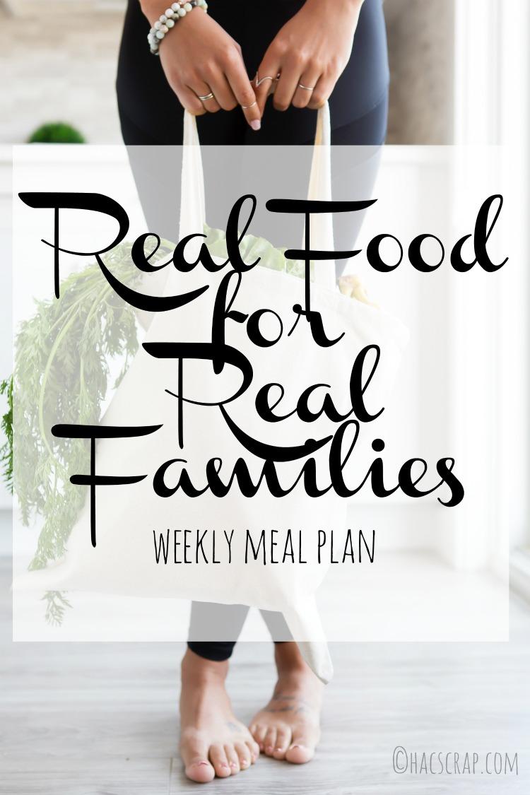Weekly Meal Plan 2018 Week 19