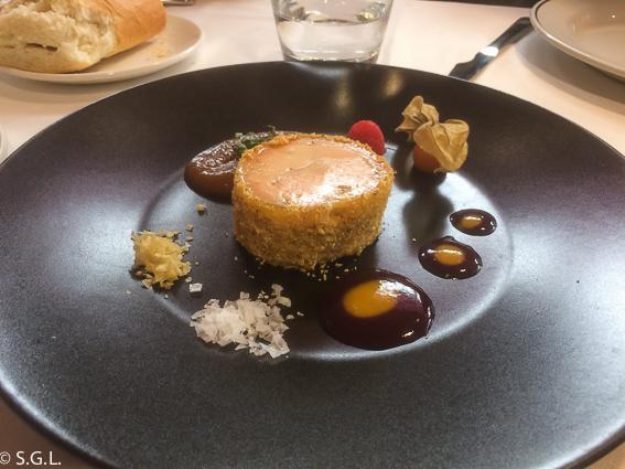 Terrina de foie en el restaurante Hector Oribe. Laguardia