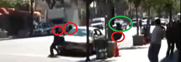 huyen de la policia tras atracar un banco