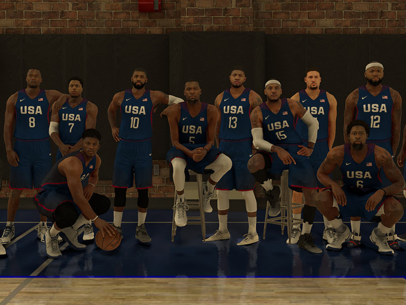 NBA 2K17 Screenshot - 2016 USA Basketball Men's National Team (Leaked)