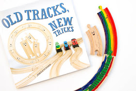 Paint Colorful Rainbow Train Tracks (inspired by Old Tracks, New Tricks)