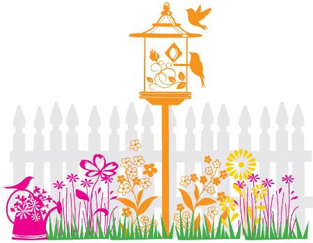 Inkadinkado Flower Garden Wood Stamp Set