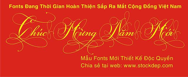 Fonts thiết kế độc quyền.
