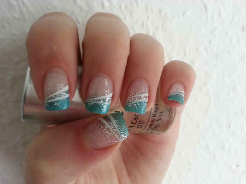 FrAnZis Nageldesign Facebook - nageldesign french mit glitzer
