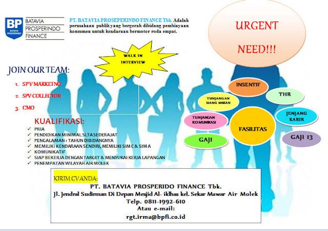 Lowongan Pekerjaan di Batavia Prosperindo Finance Fasilitasnya Ada Gaji 13
