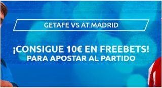Mondobets promocion 10€ gratis para el Getafe vs Atletico 11 a 14 julio 2020