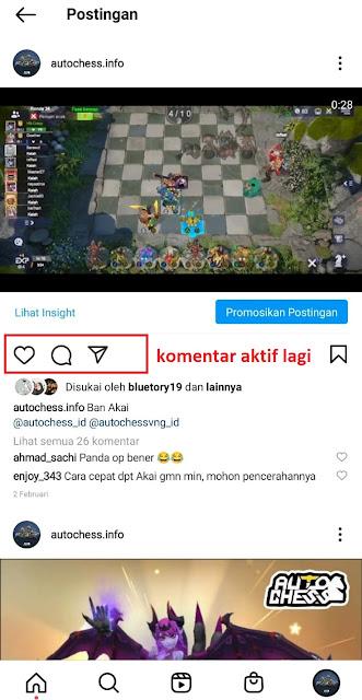 Cara Menonaktifkan atau Mematikan Komentar Di Postingan Instagram
