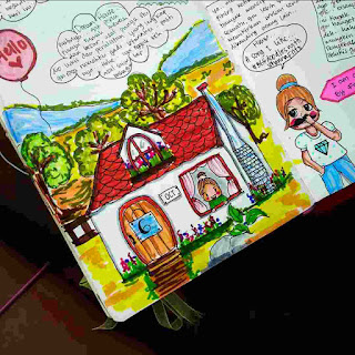 cara mengisi art journal