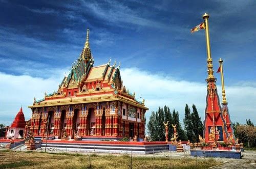 Pagodas in Mekong Delta