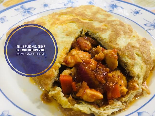 resepi mudah  sedap buat telur bungkus  telur bistik  rumah blog cik matahariku Resepi Guna Isi Ayam Enak dan Mudah
