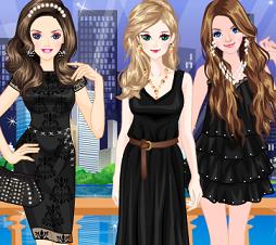 لعبة بنات بملابس سوداء